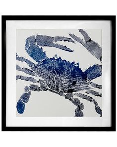 Blue crab. Perfect print for a perfect Maryland household.