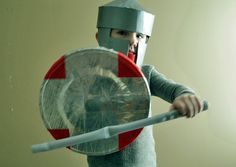 Simple (and Frugal) Fun: Dressing Up a Duct Tape Knight - Simple Kids