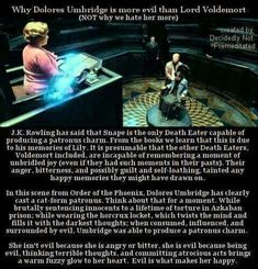 Why Umbridge is more evil than Voldemort