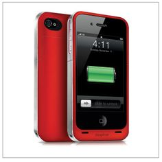 Mophie charging case for Project (RED) -- keep your phone charged on the road. Plus, it supports an awesome cause!