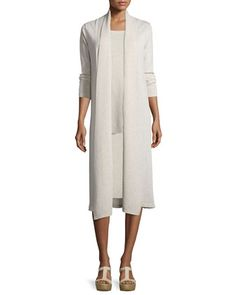 Wool+Kimono+Duster,+Long+Tank+&+Pencil+Skirt+by+Eileen+Fisher+at+Neiman+Marcus.