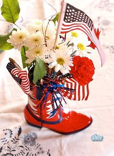 Patriotic Boots American Flag