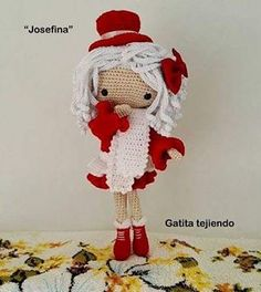 Muñeca «Josefina» (basada e inspirada en la diseñadora Carmen rentería) #amigurumis
