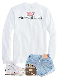 A fashion look from January 2018 by featuring Converse, Kendra Scott and Vineyard Vines Sporty Summer Outfits, Cute Outfits For School, Cute Comfy Outfits, Preppy Outfits, Simple Outfits, Fall Outfits, Teenage Outfits, Teen Fashion Outfits, Outfits For Teens