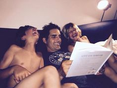 Galen reading to Dillon and Jensen 2015
