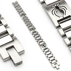 Bracelet homme gothique avec Araignées