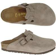 Birkenstock Boston Taupe, available online at http://www.shoppaulsshoes.com/birkenstock-boston-taupe/
