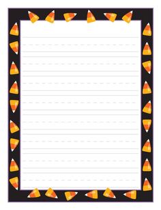 Halloween Candy Corn — fun paper is a great incentive for student writing