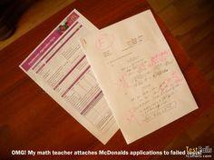 Test Fails: McDonalds Application