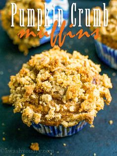 These Pumpkin Crumb Muffins are sweet and moist with a delicious crumb topping! Perfect for a breakfast with a cup of coffee!
