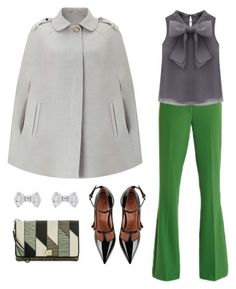 """""""Take a Bow"""" by linnea-svensson93 ❤ liked on Polyvore featuring Miss Selfridge, VIVETTA, WithChic, RED Valentino, Brahmin, Ted Baker, preppy, grunge, grandma and PreppyGrungeGrandma"""
