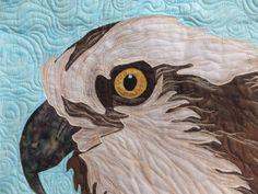 osprey//gift for birder//art quilt//gift for nature lover//gift for bird lover//fabric art by quiltedfabricart on Etsy