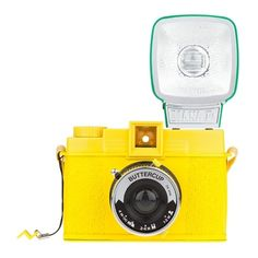 Diana F+ Camera - Buttercup - Cameras - Lomography Shop ❤ liked on Polyvore featuring camera, fillers, accessories, electronics, yellow and backgrounds