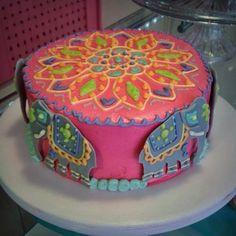 mandala cake by capricupcakes