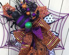 Skeleton wreath Halloween Wreath Halloween Skeleton by Keleas