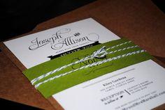 Allison Grayce Wedding Invitation design. 12 Inspiring #Wedding Invitations #design #typography #print