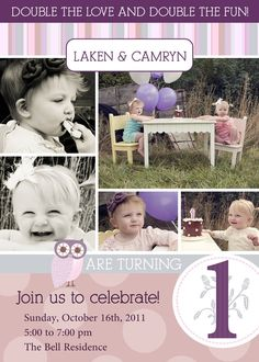 1st birthday invitations birthday pinterest birthday ideas twins vintage 1st birthday invitation you print filmwisefo