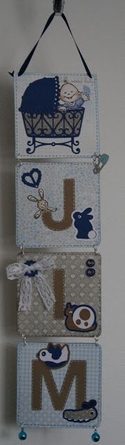 baby room name hanging boards (hang on foot of crib)