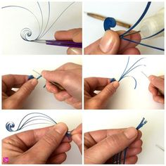 How to Make Quilling Paper Swirls - The Papery Craftery - - How to Make Quilling Paper Scrolls Neli Quilling, Paper Quilling Cards, Paper Quilling Flowers, Paper Quilling Jewelry, Paper Quilling Patterns, Origami And Quilling, Quilled Paper Art, Quilling Paper Craft, Quilled Roses