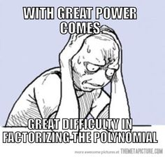 I did actually enjoy factoring polynomials. But I bet you I can't do it now. XP