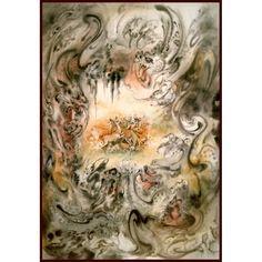 Обсаден чл печат от майстор художник Махмуд Farshchian в размер 13.1 / 2 x 19 инча: Amazon.com: Начало & Кухня