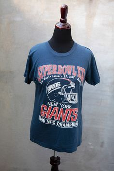 937819fde vintage New York GIANTS -1986 NFC Champions Shirt - nfl football - thin  soft size Small