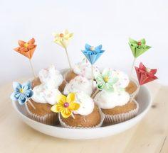 topper flor de origami / COPYEPASTE