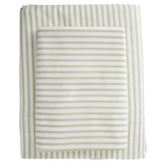 I pinned this Ticking Sheet Set in Green from the Traditions linens event at Joss and Main!