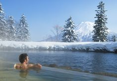 There are many natural hot springs (onsens) in Niseko