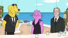 BoJack Horseman goes to a funeral.
