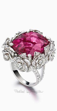 Piaget ~ Gemstone + Diamond Ring
