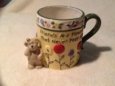 Boyds Bear , 2005 Coffee Mug, ceramic, friends are flowers,  boyds Home
