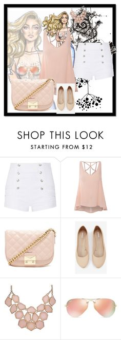 """Untitled #67"" by brandy-carringer ❤ liked on Polyvore featuring Pierre Balmain, Glamorous, Forever 21, Express and Ray-Ban"