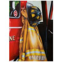 """Jodi Monroe """"Waiting for the Call"""" Print - Firefighter Wife"""