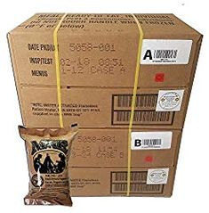 Diet Military ULTIMATE MRE Case A and Case B Bundle, 24 Meals with 2018 Inspection Date. Military Surplus Meal Ready to Eat with Western Frontier's Inspection and Guarantee. Best Emergency Food, Emergency Rations, Emergency Food Storage, Emergency Food Supply, Emergency Preparation, Weekend Camping Trip, Camping Meals, Camping Hacks, Sos Food