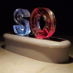 Colour Change Light Sculpture - 2 Rainbow Letters   wowthankyou.co.uk £22.50