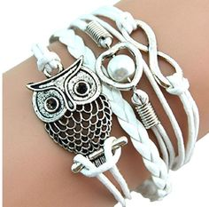 Susenstone® Fashion Women Lovely Infinity Owl Pearl Multilayer Charm Leather Bracelets $3.02 - http://supersavingsman.com/237537-2/