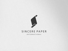 Sincere Paper International | Logo | Simple logo with icon.