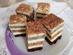 Zebra szelet Hungarian Recipes, Izu, Tiramisu, Muffin, Ethnic Recipes, Food, Sport, Deporte, Essen