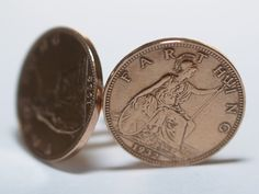 81st Birthday 1932 Farthing Coin Cufflinks  by OldCoinCufflinks, $19.99