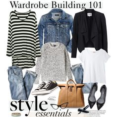 """""""wardrobe building 101"""" by cutandpaste on Polyvore #consignment #womensclothingexchange"""