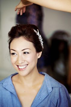 Clean, extremely natural wedding makeup