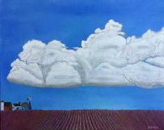 FARM VI, CUMULUS OVER LAVENDER   24 x 30   $1,050.00