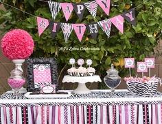 Inspiration for pink zebra themed baby shower.
