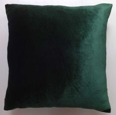 green velvet pillow 16 inch 18 inch velvet pillow velvet pillows dark green pillow green pillows green velvet cushion