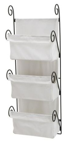 allamalla wall basket from ikea - perfect for holding diapers beside a changing table!