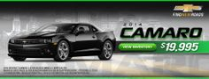 Camaro sales web banner for unnamed client
