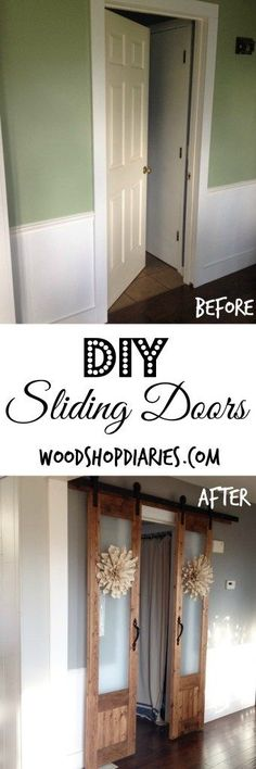 DIY French sliding doors