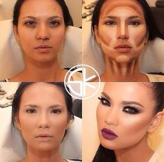 dramatic makeup contouring before and after - Google Search