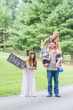 Baby Number 4 Announcement! How Cute!!